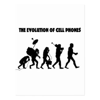The Evolution Of Cell Phones Postcard