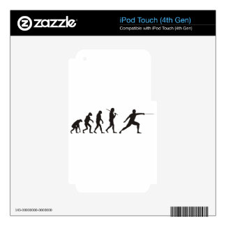 The Evolution Of Fencing iPod Touch 4G Skin