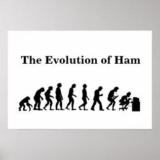 The Evolution of Ham Ham Radio Poster