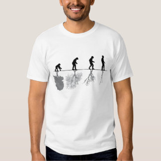 The evolution of humanity and environment tee shirt