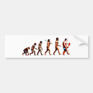The Evolution of Man Bumper Sticker