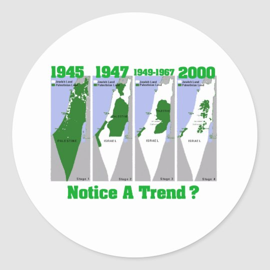 The Evolution of Palestine Classic Round Sticker