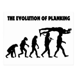 The Evolution Of Planking Post Card