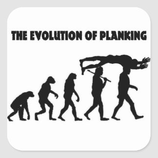 The Evolution Of Planking Square Sticker