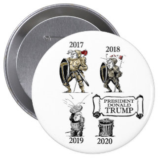 The Evolution of President Trump Pinback Button