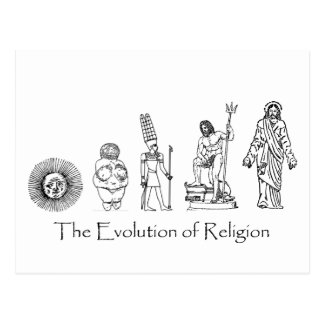 The Evolution of Religion Postcard