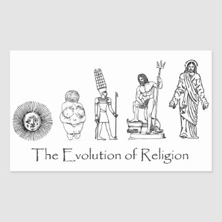 The Evolution of Religion Rectangular Sticker