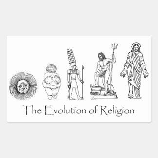 The Evolution of Religion Rectangular Sticker