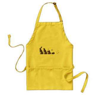 THE EVOLUTION OF THE CHOCOLATE BUNNY ADULT APRON