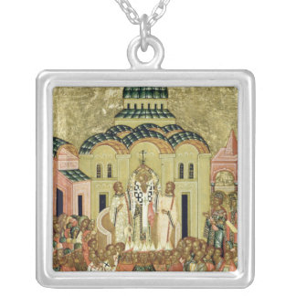 The Exaltation of the Cross Silver Plated Necklace