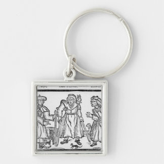 The Examinations of Anne Baker, Joanne Silver-Colored Square Keychain