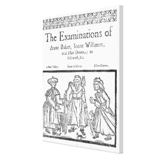 The Examinations of Anne Baker, Joanne Willimot Canvas Print