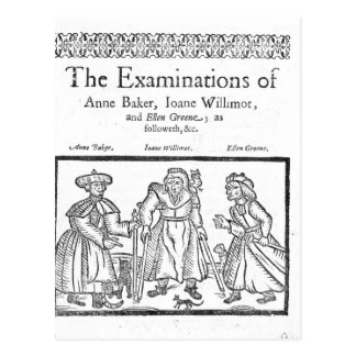 The Examinations of Anne Baker, Joanne Willimot Postcard
