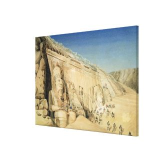 The Excavation of the Great Temple of Ramesses II, Canvas Print