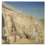 The Excavation of the Great Temple of Ramesses II, Large Square Tile