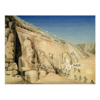 The Excavation of the Great Temple of Ramesses II, Postcard
