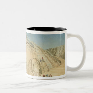 The Excavation of the Great Temple of Ramesses II, Two-Tone Coffee Mug