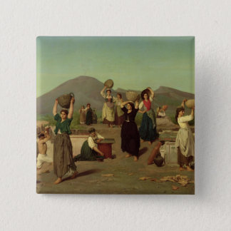 The Excavations at Pompeii, 1865 Pinback Button