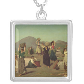 The Excavations at Pompeii, 1865 Silver Plated Necklace