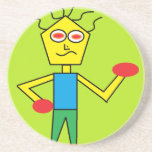 the excited dude drink coaster
