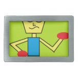 the excited dude rectangular belt buckle