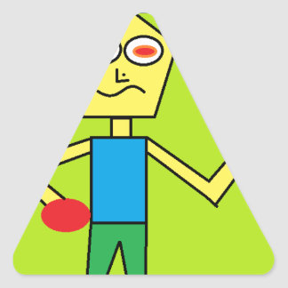 the excited dude triangle sticker