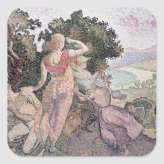 The Excursionists, 1894 Square Sticker