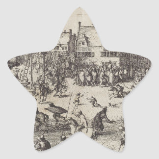 The Execution of Guy Fawkes Star Sticker