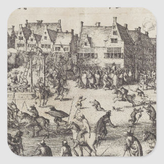 The Execution of Guy Fawkes Square Sticker