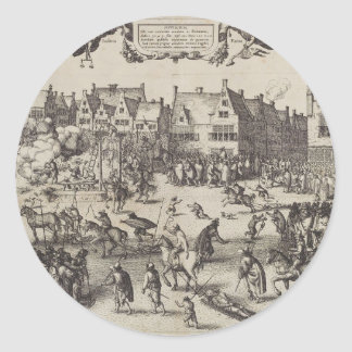 The Execution of Guy Fawkes Classic Round Sticker