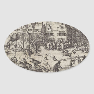 The Execution of Guy Fawkes Oval Sticker