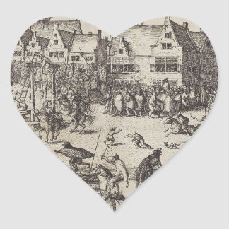 The Execution of Guy Fawkes Heart Sticker