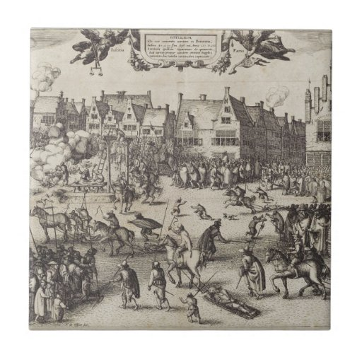 The Execution of Guy Fawkes Tiles