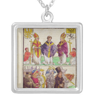 The execution of Jan Hus Silver Plated Necklace