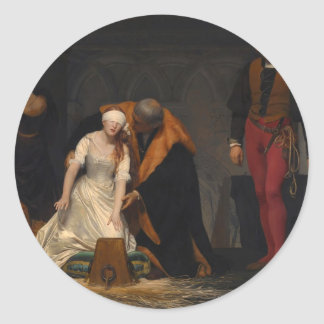 The Execution of Lady Jane Grey Classic Round Sticker