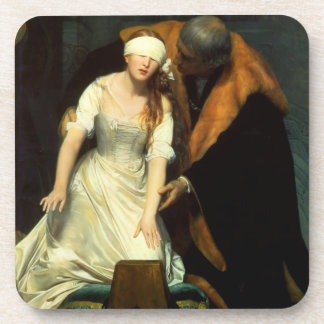 the execution of lady jane grey drink coaster
