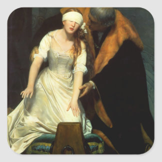 the execution of lady jane grey square sticker