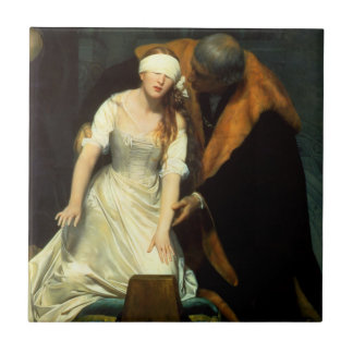 the execution of lady jane grey tile