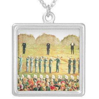 The Execution of Maximilian I Silver Plated Necklace