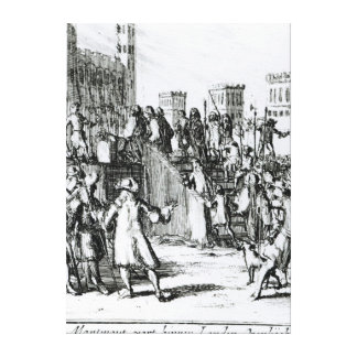 The Execution of the Duke of Monmouth Canvas Print