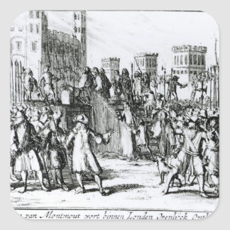The Execution of the Duke of Monmouth Square Sticker
