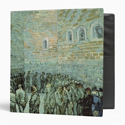 The Exercise Yard, or The Convict Prison, 1890 Vinyl Binder