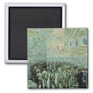 The Exercise Yard, or The Convict Prison, 1890 2 Inch Square Magnet
