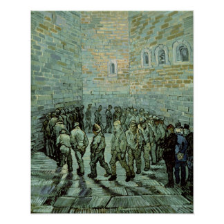 The Exercise Yard, or The Convict Prison, 1890 Poster