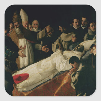 The Exhibition of the Body of St. Bonaventure Square Sticker