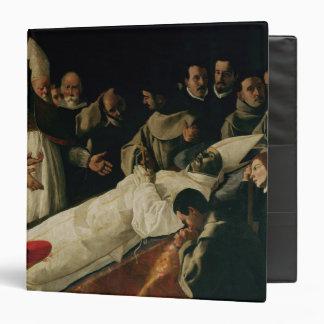 The Exhibition of the Body of St. Bonaventure Vinyl Binder