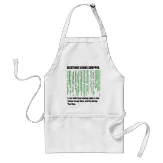 The Existence Looks Shopped Adult Apron