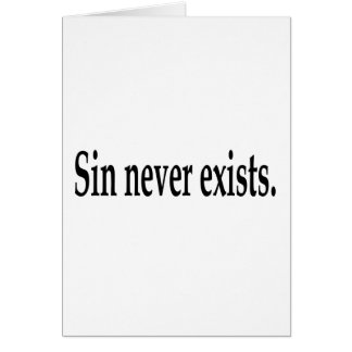 The Existence Of Sin Card