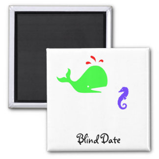 The Existential Seahorse_Blind Date 2 Inch Square Magnet