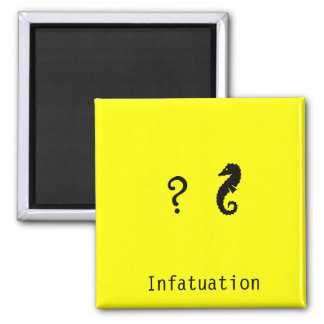 The Existential Seahorse_Infatuation 2 Inch Square Magnet